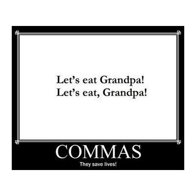 Comma Use (it matters)